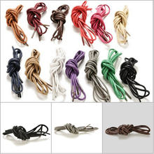 1Pair 8 Colors New Round Waxed Coloured Shoelaces For Leather Shoes Laces Strings Martin Boots Sport Shoes Cord Ropes(China)