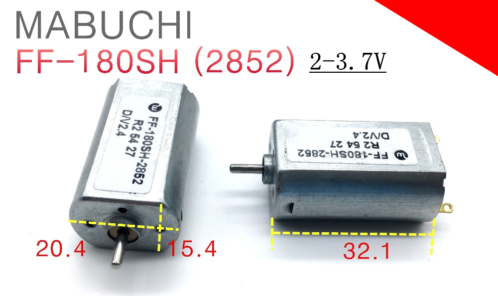 2pcs mabuchi ff 180sh 2852 electrical motors toys