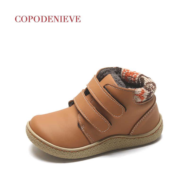 COPODENIEVE çocuk botları, çocuk ayakkabıları, deri çocuk botları, kalınlaşma ve sıcaklık koruma kış
