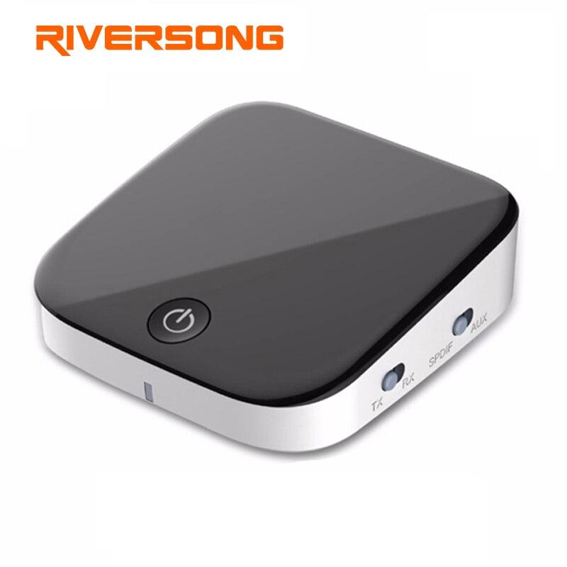 RIVERSONG Bluetooth Transmitter Bluetooth Empfänger Optische Toslink/SPDIF 3,5mm Audio Bluetooth Wireless Adapter aptX TV Hause