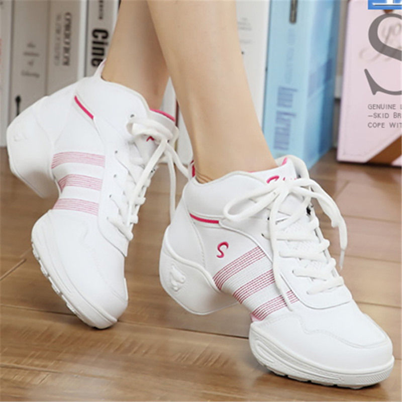 New Dance Shoes For ladies Sports Soft Outsole Breath women Practice Shoes Modern Jazz Dance Shoes Sneakers zapatillas 7320