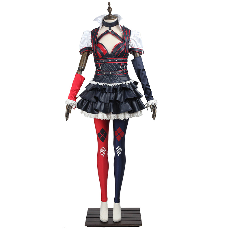 Batman Arkham Knight Cosplay Costumes Harley Quinn Cosplay Clothing Party Dresses Outfit With Boots Suit for