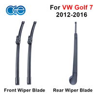 Combo Silicone Rubber Front And Rear Wiper Arm Blades For VW Golf 7 2012 2013 2014
