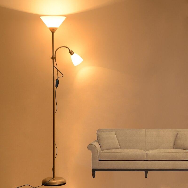 Işıklar ve Aydınlatma'ten Zemin Lambaları'de Amerikan Tarzı modern demir boyalı zemin Lambaları ayarlanabilir E27 LED 220 V yenilik zemin ışıkları oturma odası için çalışma başucu ofis title=