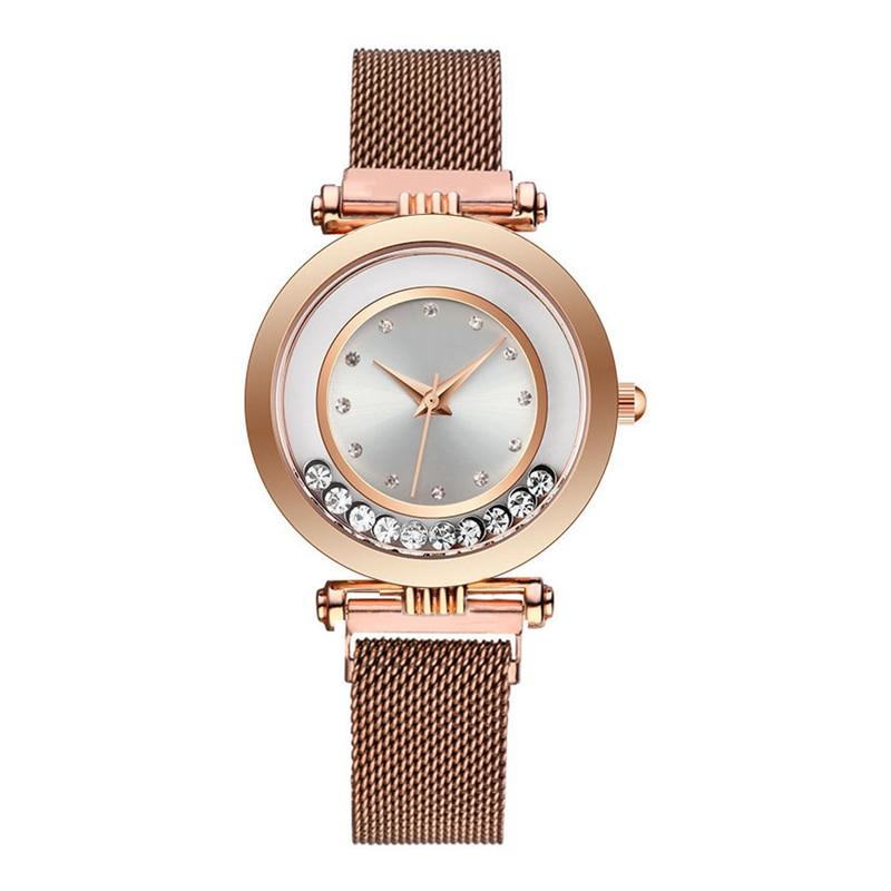 Luxury Women Watches 2019 Ladies Watch Flowing Rhinestone Magnetic Female Quartz Wristwatch Relogio Feminino Reloj Mujer Clock