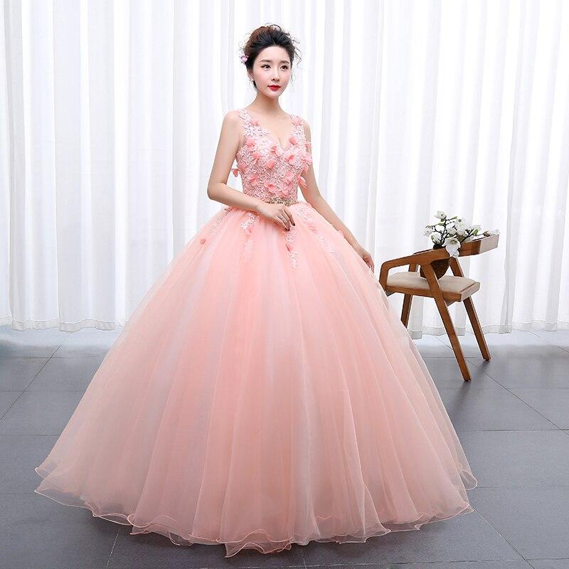Vestido de novia de color 2017 Nuevo estilo coreano sexy V ...
