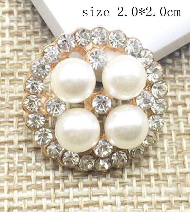 6c3c0564fbc Fashion rhinestone brooch with pearls adorned DIY hair accessories brooch  pin material jewelry accessories 12pcs lot MYQB081