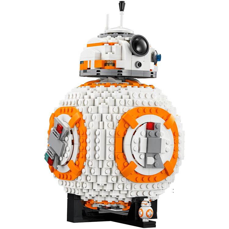 Фотография OLeKu BB8 Robot legoings Star Wars Set Genuine 1238Pcs Series Set Building Blocks Bricks starwars Toys figures legoings 75187