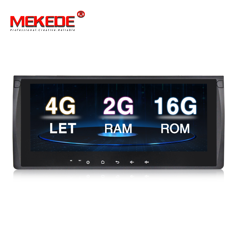 MEKEDE 10.25 ''Voiture lecteur multimédia 4G lte Android 7.1 2 GB RAM Voiture DVD GPS lecteur de navigation pour BMW E39 E53 X5 avec Wifi BT