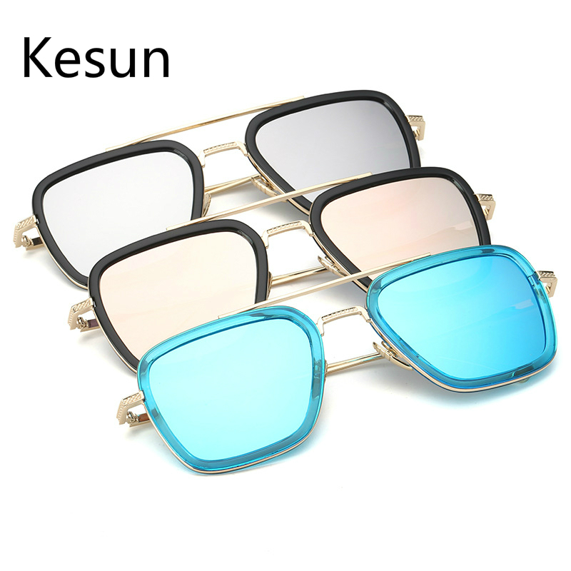 Square Framed Fashion Glasses : 2016 New Brand Designer Retro Sunglasses Men Women ...