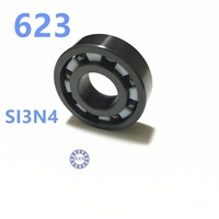Free Shipping 623 Full SI3N4 Ceramic Deep Groove Ball Bearing 3x10x4mm ABEC1