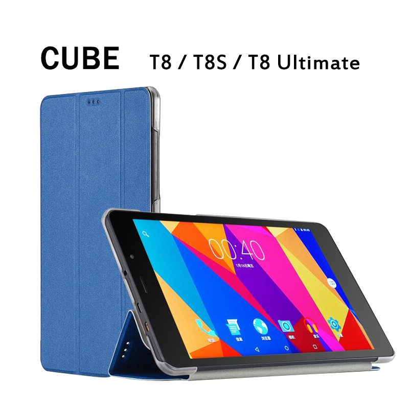 Free shipping Original PU Leather Case for 8 Inch CUBE T8 T8S T8 Plus Tablet Pc
