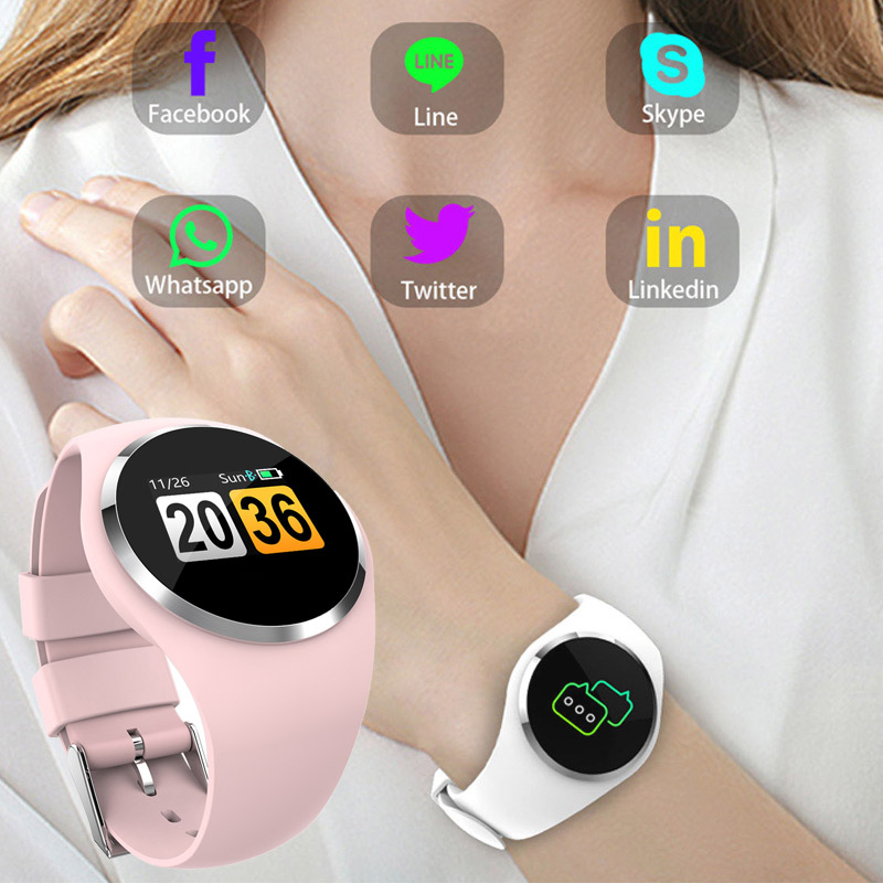 Bluetooth Feminine Good Watch Girls Coronary heart Price Monitor Blood Stress Sport Waterproof Smartwatch Connectivity Ios Android Cellphone