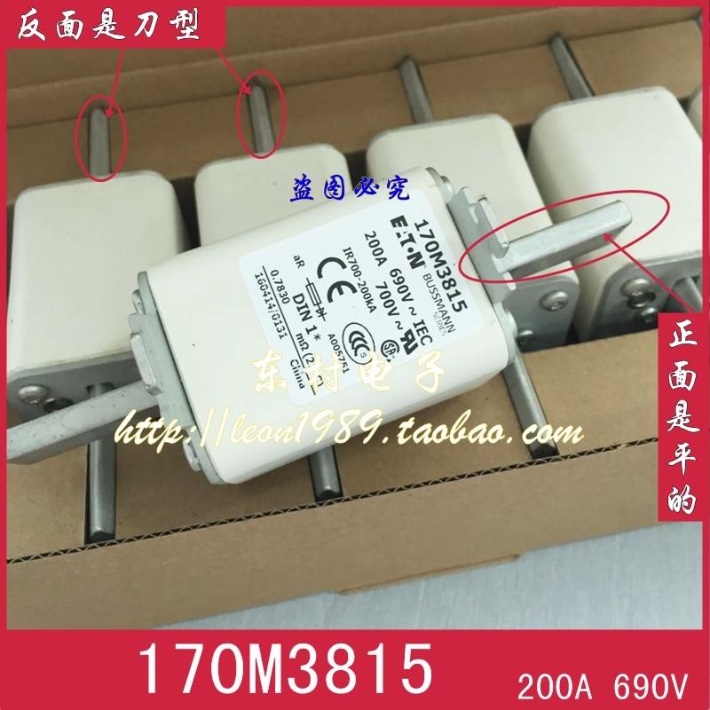 [SA]United States BUSSMANN Fuses 170M3815 170M3815D 200A 690V 700V fuse free shipping 2018920 west ba fuses nh00 700 v 350 a 250 a fuse ar 200 ka