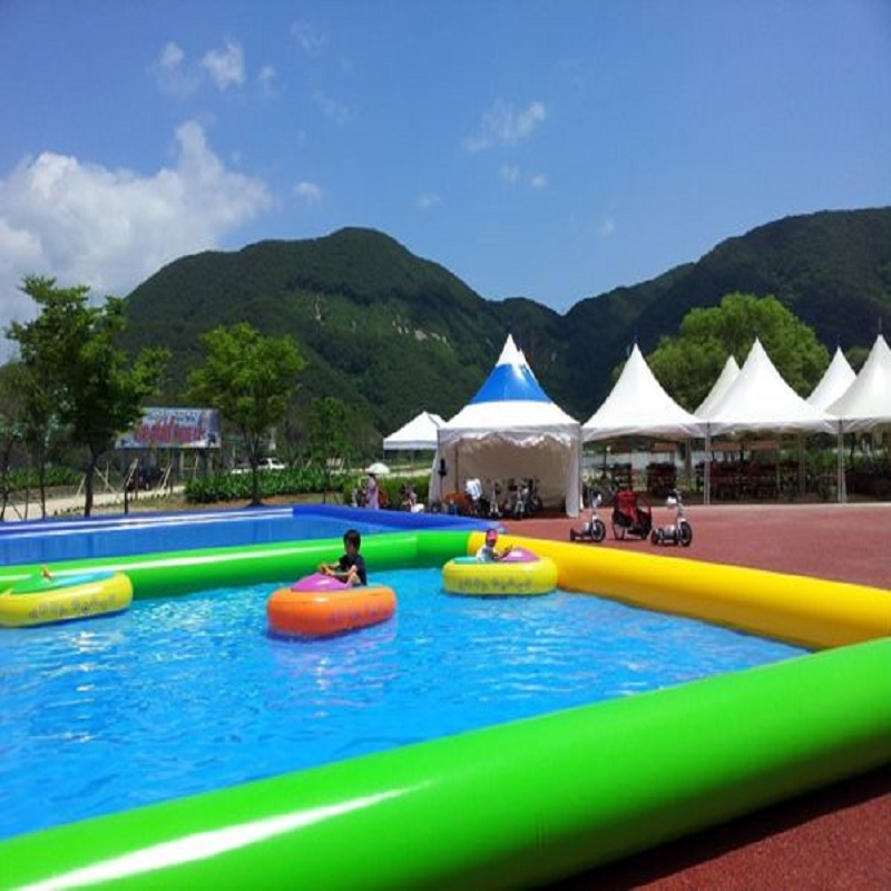 Inflatable Pool Outdoor Large Type Swimming Pool Size 10*10*06 M Super Big Swimming Pool Water Park Summer Cool Family Swimming