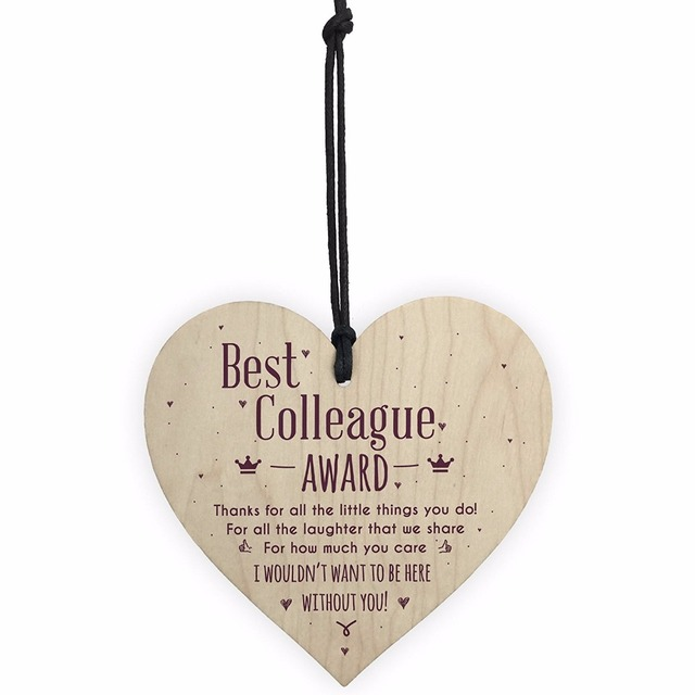meijiafei best colleague award hanging heart plaque work friendship