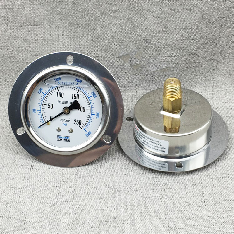 цена на YE-60ZT axial belt edge Digital Pressure Gauge , micro pressure meter water column gas meter 15/150/250kg hydraulic with oil