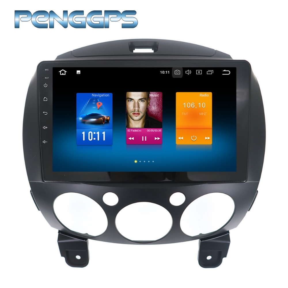 Octa Core 2 Din Radio <font><b>Android</b></font> 9.0 for for <font><b>Mazda</b></font> 2 Demio 2007-2013 GPS Navigation Car CD DVD Player 4G+32G <font><b>Multimedia</b></font> Headunit image