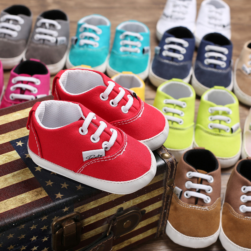 Baby Boy And Girl Shoes Spring And Autumn 0-1 Years Rubber Soft Bottom Non-slip Leisure Baby Toddler Shoes Kids First Walkers