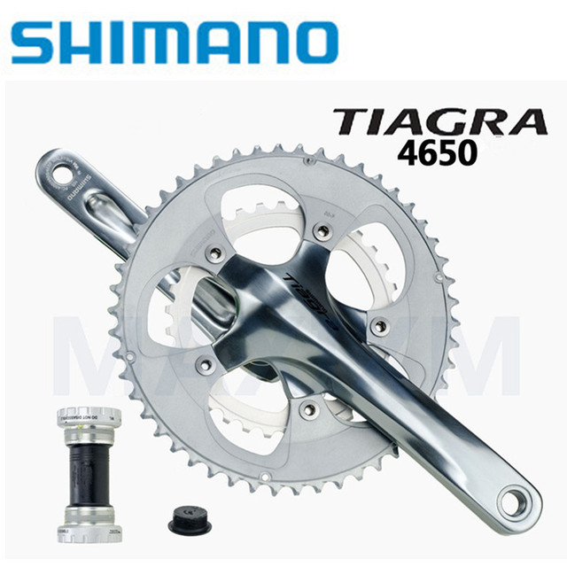 Shimano Tiagra FC-4650 10 Speed road bike bicycle bmx Crankset 50/34T  52*39T 165 170 172 5 175mm with bb4600 Silver