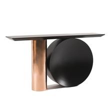 12 szt Opakowanie stół konsolowy o wysokości 86cm z pozłacanym metalowy stojak lustrzany efekt długość 1 6m dostosowana długość dostępna tanie tanio Meble do salonu Stół konsoli Meble do domu