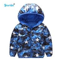 Startist Children Outerwear Winter Warm Boys Coat Hooded Children Cotton Padded Clothes Boy Down Jacket Star