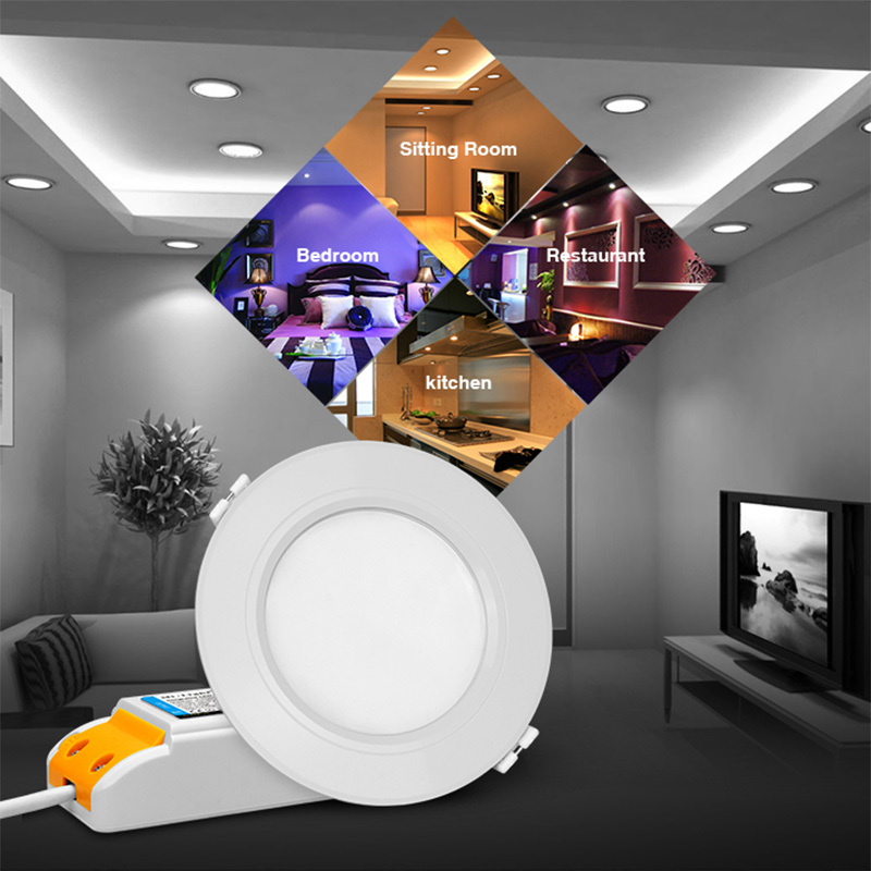 Mi Light 1x 6w/12w, 2x 6w/12w, 3x 6w/12w, 4x 6w/12w RGBCCT (RGB+Warm White/White) led downlight + 2.4G RF Remote mi light 2 4g 1pcs lot 12w led downlight remote rf control wireless bulb lamp white warm white down light 85 265v
