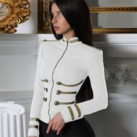 Ocstrade Women Jackets Spring Autumn Coat 2019 Party High Quality White Plus Size Elegant Long Sleeve Bandage Jacket Bodycon