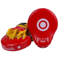 PU Leather Boxing Training Equipment Boxing Curved Punch Hot Punching Kicking Pad Punch Mitt Curved Hand