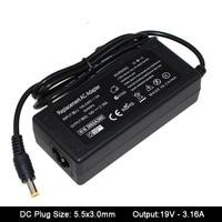 19V 3.16A 5,5x3,0 мм AC адаптер питания для Samsung NP300V5A RV411 R428 RV415 RV420 RV515 R540 R510 R522 R530 зарядное устройство для ноутбука
