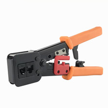 Network Crimper Tool EZ RJ45 RJ11 6P 8P Hand Tool Plier Cat5e Cat6 Cable Cutting Stripper Network Electronic Multi Function Tool pdto network clamp rj11 rj45 6 p 8 p network cable pliers multi function drilling cutter crystal head frieze cat5e cat6 cables