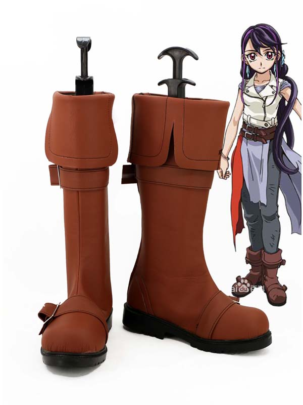Yu-gi-oh! Lulu Obsidian marron Cosplay bottes chaussures Anime parti Cosplay bottes sur mesure femmes chaussures