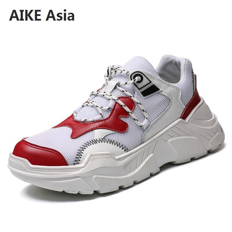Hommes chaussures nouveau Design hommes maille chaussures décontractées respirantes mode à lacets baskets pour hommes chaussures colorées confortables