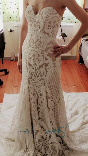 Vintage Lace Mermaid Wedding Dress Turkey Vestido de Novia Sequin Lace Sheer Bridal Gowns Robe mariee Sexy Wedding Dresses