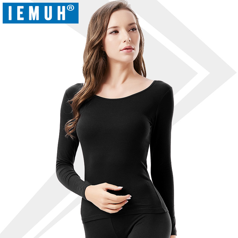 IEMUH Brand Thermal Underwear Women Long Johns Only Tops Quick Dry Anti-microbial Stretch Thermo Underwear Female Warm