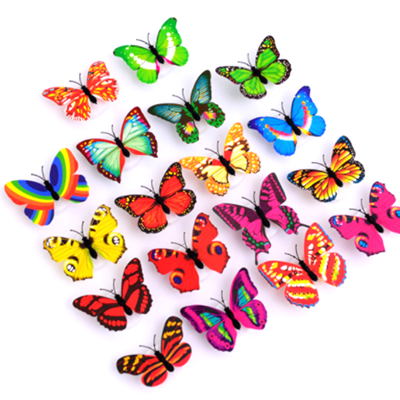 New Color Butterfly Led Flashing Night Light Home Simulation Electric Butterflies Toys For Kids,Children