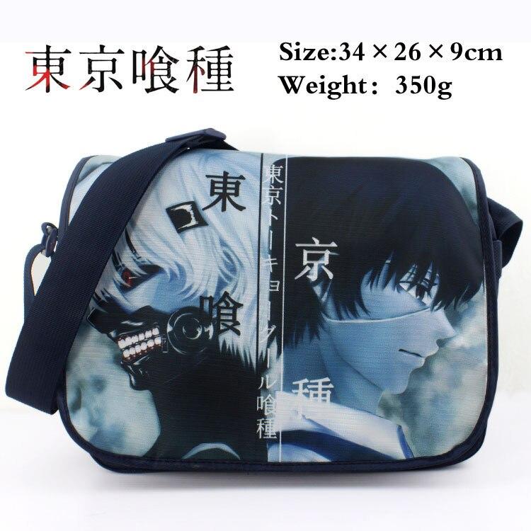 Anime Tokyo Ghoul White Hair Kaneki Ken polyester shoulder bag