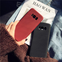 Ultra Thin Matte Anti-skid Soft TPU Phone Case For Samsung Galaxy S9 S8 Plus Silicone Shockproof Cover For Samsung S9plus Case for samsung galaxy a7 2018 fitted shockproof back cover anti skid anti fingerprint silicone soft black tpu phone case