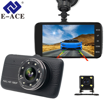 E-ACE B16 Car Dvr 4.0 Inch Dash Cam With Rear View Camera Full HD 1080P Dual Lens Video Recorder Auto Registrars Vehicle Dashcam