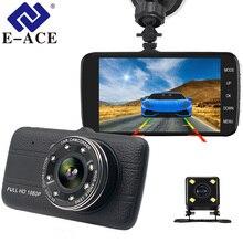E-ACE 4.0 дюймов Автомобильный видеорегистратор Full HD 1080 P мини Камера автомобильная видео Регистраторы Авто регистратор зеркало заднего вида Ночное видение регистраторы FHD 8 светодиодов Зеркало Камера Автомобиля