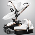 Aulon recounts 2 in 1  baby stroller leather two-way shock absorbers baby car cart trolley Europe 3 in 1 baby pram