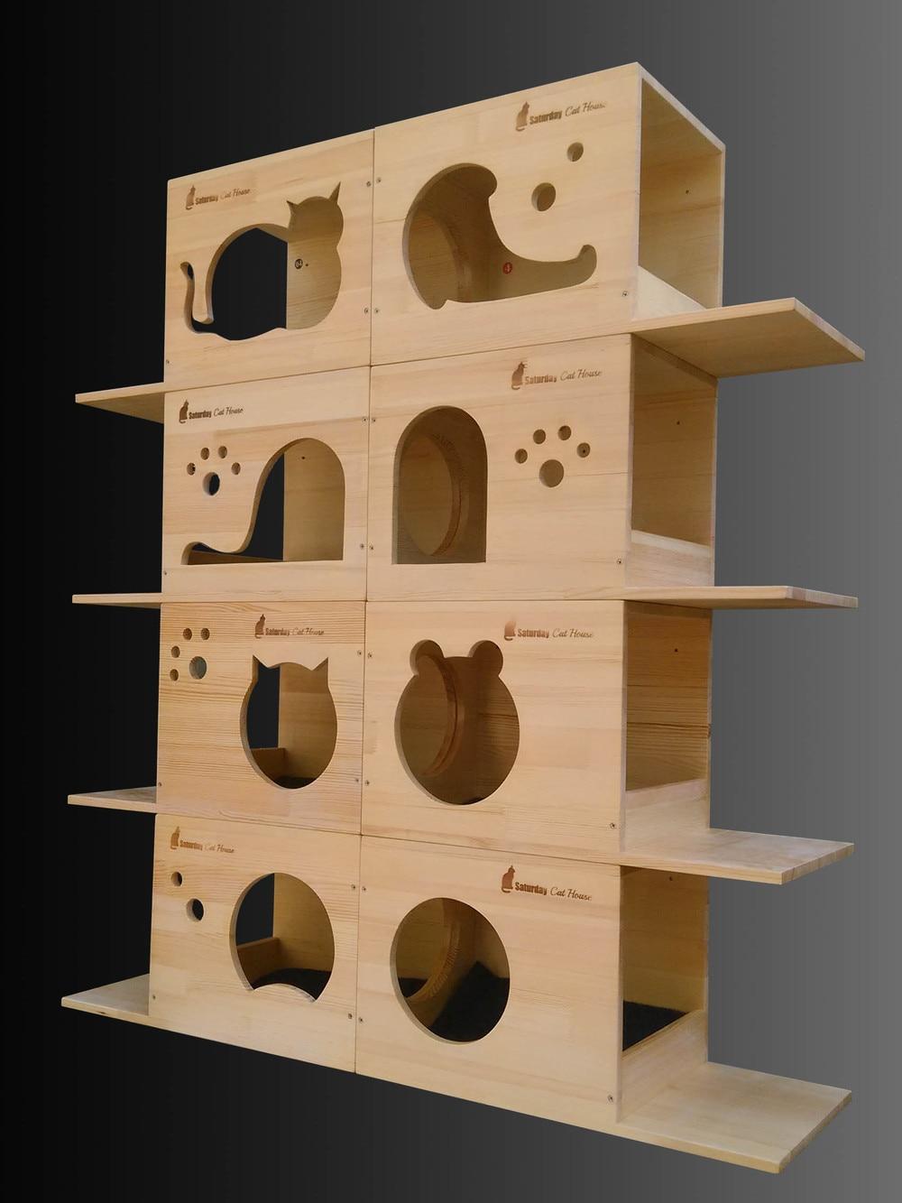 wooden cat tree - aliexpresscom buy box natural wood cat tree cats climbing cat