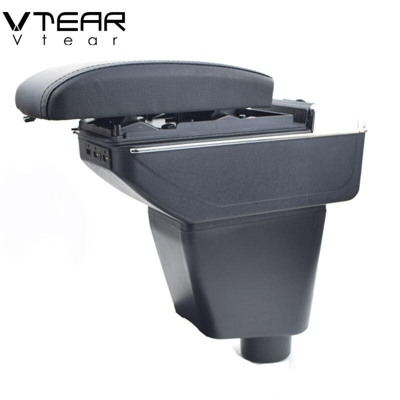 Vtear Per Renault Kaptur Captur QM3 bracciolo box di Ricarica USB intensificare centrale casella dei contenuti Negozio di supporto di tazza posacenere accessori