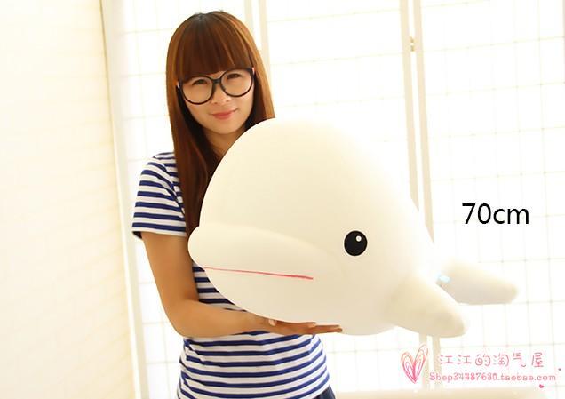 Nanoparticules en mousse grand 70 cm blanc baleine doux oreiller jouet cadeau de noël h792