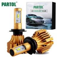 Partol S6 H4 H7 H11 9005 9006 H13 H1 Car LED Headlight Bulbs 70W 7000LM CREE