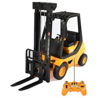 2019 Boy Electric RC Toy Gift Alloy Moving Remote Control RC Forklift Truck 1:8 45CM Big Simulation Hoisting Crane Handling Truk