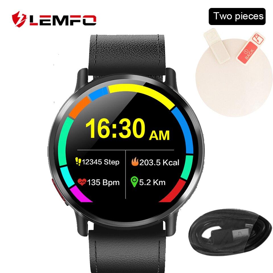 LEMFO Smart Watch accesorios Cable de carga Protector de pantalla correa de cuero para LEM X LEMX
