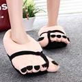 Pretty Funny Winter Indoor Toe Big Feet Warm Soft Plush Slippers Nice Slippers Woman