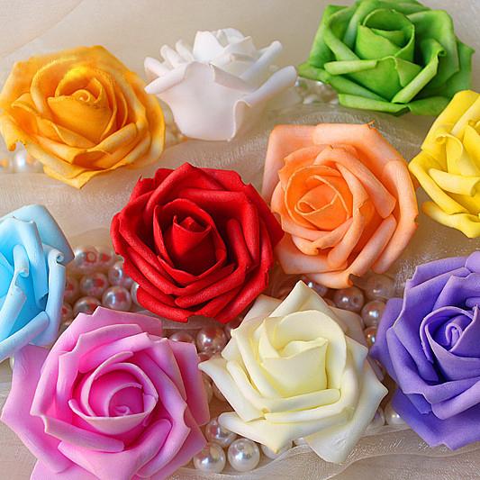 cm de dimetro flores rosas de espuma para el hogar y decoracin de la