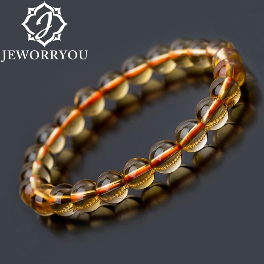 6-10mm Bright Citrine Bracelet Citrine Beads Natural Stone Bracelet Buddha Charms men's bracelets Bangles Jewelry Gift For Men